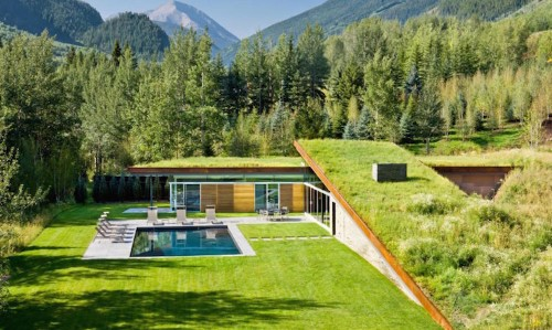 Grass Roof Home Is Built Into the Ground for Energy-Conserving Camouflage