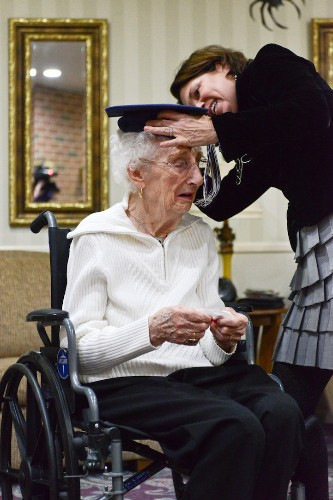97-Year-Old Bursts into Tears of Joy as She Finally Gets Her High School Diploma
