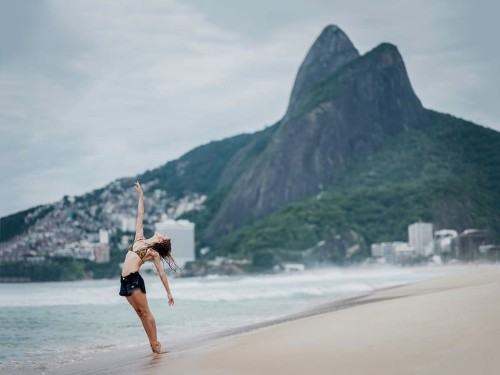 Ballet Dancers on the Streets of Rio de Janeiro Demonstrate a City of Contrasts