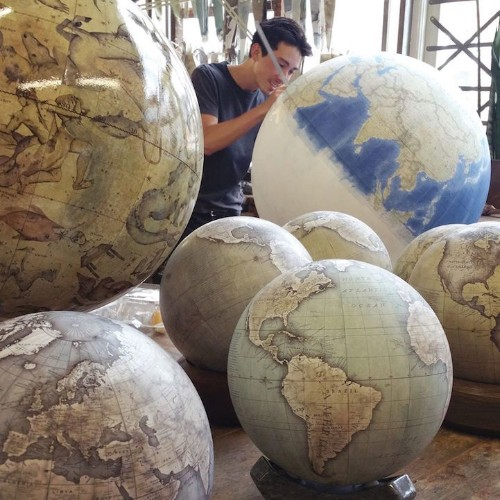 One of the World's Only Globe-Making Studios Celebrates the Ancient Art of Handcrafted Globes