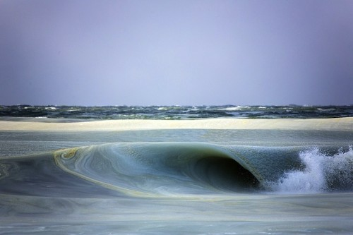 Surfer Photographs Frozen Waves Breaking on the Island of Nantucket