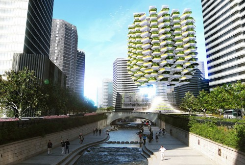 Innovative Tree-Shaped Skyscraper Brings Vertical Farming to Seoul