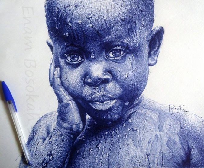 Exquisite Photorealistic Portraits Created Using a Ballpoint Pen