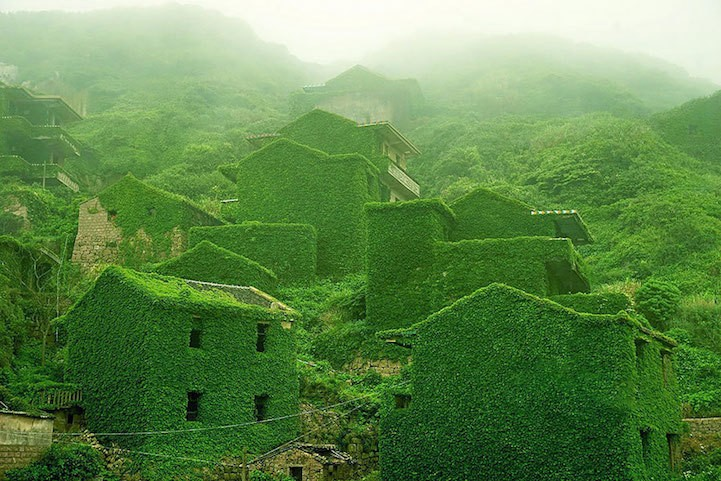 Abandoned Fishing Village in China Reclaimed by Nature