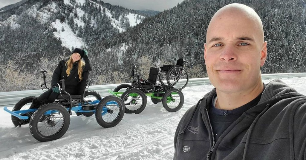 Man Designs an Off-Road Wheelchair for His Wife To Have Outdoor Adventures