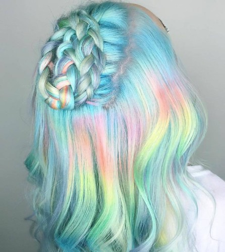 'Pastel Braids' Hair Trend Gives Women a Twisting Crown of Color