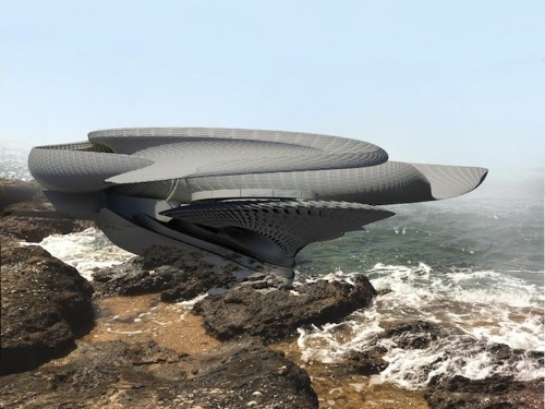 Futuristic House Design Concept Harnesses Energy from Ocean Waves