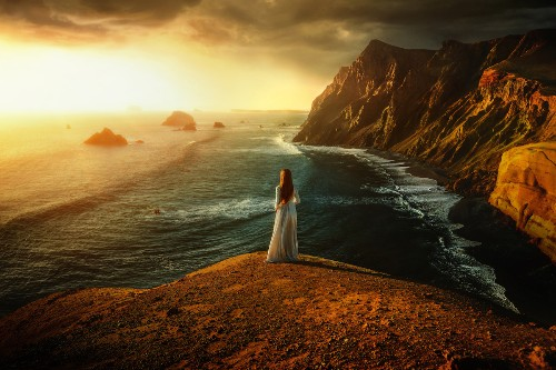 Real-Life Fairy Tale Photos of a Woman in Gorgeous Landscapes Around the World