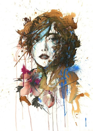 New Ink, Tea and Alcohol Portraits by Carne Griffiths