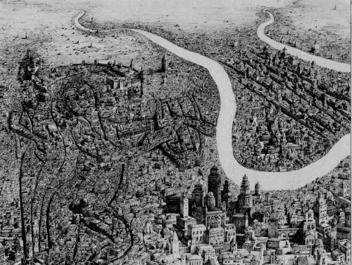 Incredibly Dense Cityscapes Emerge from Intricate Illustrations