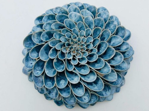 Realistic Succulents and Blooming Flowers Meticulously Crafted From Clay