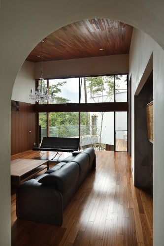 Contemporary Home Strategically Fragmented Around Trees
