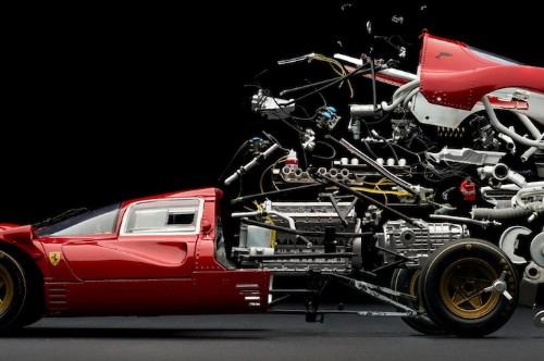 Classic Cars Perfectly Explode Into Thousands of Tiny Pieces