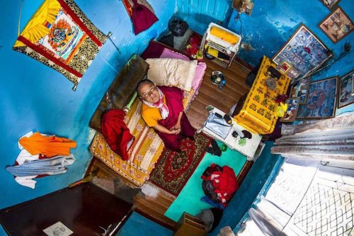 Aerial Photos Capture Diversity of What People's Bedrooms Look Like From Around the World