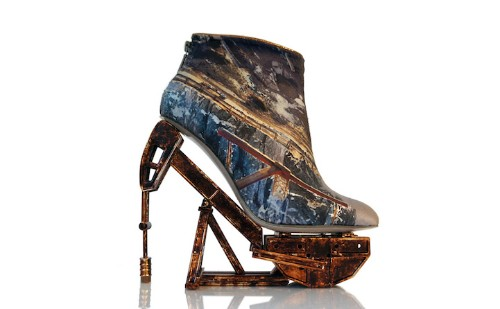 Stunningly Artistic Shoes Fuse Unlikely Materials with Stylish Heels