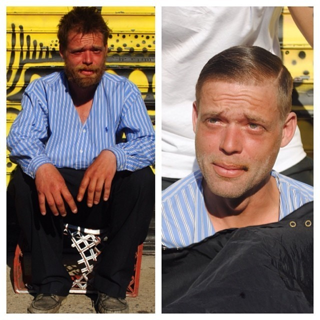 Stylist Spends Every Sunday Giving Haircuts to the Homeless