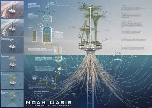 Designers Re-Imagine Oil Rigs as Positive Environmental Habitats