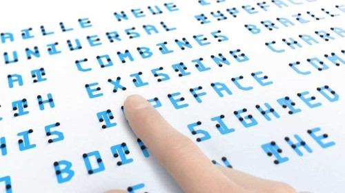 Brilliant New Typeface Combines Touchable Braille With Visible Letters