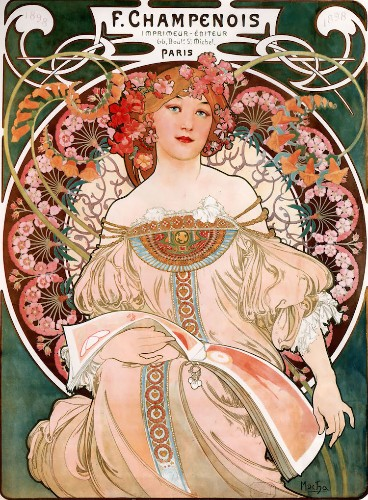 How Alphonse Mucha's Sinuous Art Nouveau Posters Elevated Printmaking as an Art Form