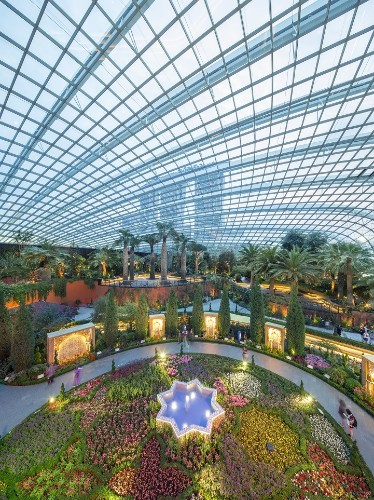 Towering Biodome Features World's Largest Indoor Waterfall in the Middle of the City