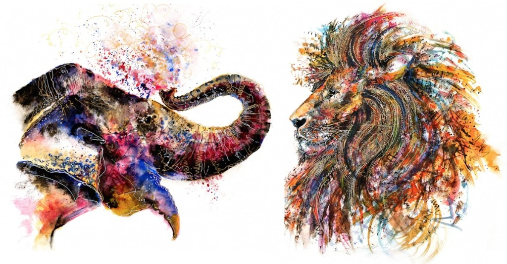 Colorful Paintings Visualize the Energetic Souls of Wildlife