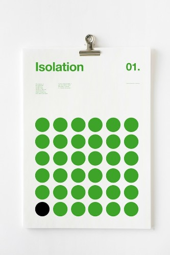 Minimalist Poster Series Depicts the Serious Symptoms of Depression with Geometric Designs