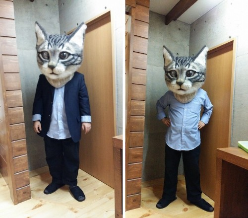 Japanese Art Students Go Fantastically Wacky with Giant Wool Cat Head