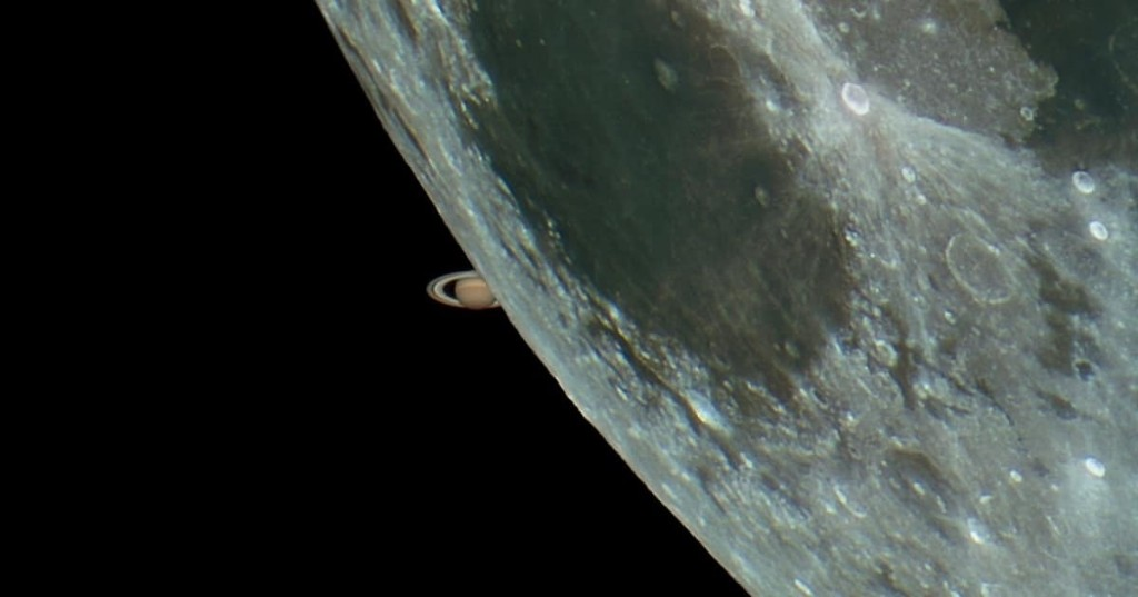 Photo of Saturn Peeking Out From Behind the Moon Still Viral After 6 Years