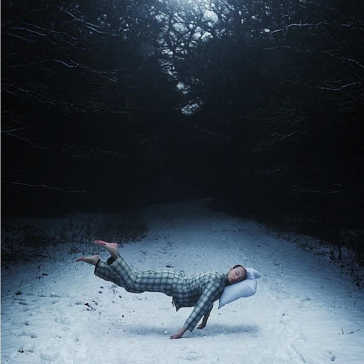 Surreal Self-Portraits Show a Man Eternally Sleeping