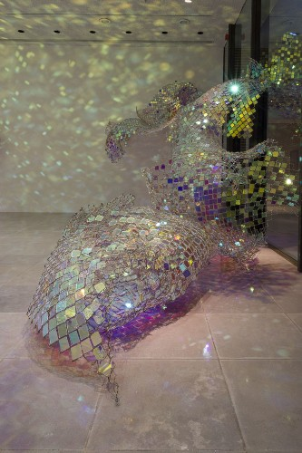 First Look: New Sparkling Chain Link Fence Sculpture