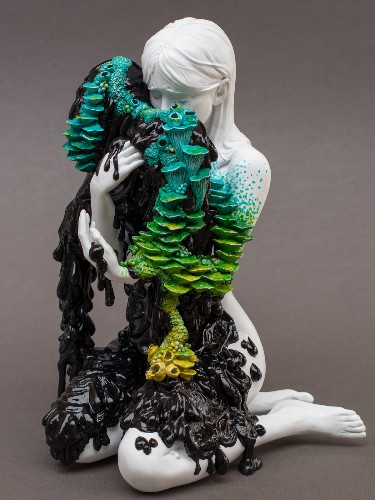 Sculptures of Weeping Women Embrace the Loss and Revival of Life