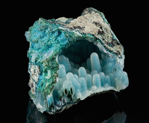 Stunning Blue-Green Mineral with Incredible Textured Interior