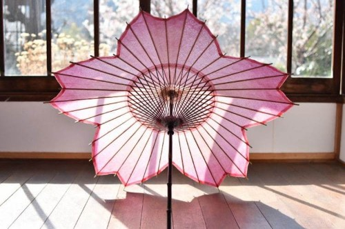 Sakura-Shaped Parasol Designed for Japan's Cherry Blossom Season
