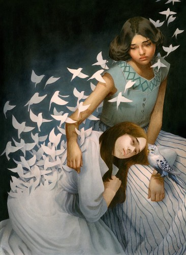 New Beautifully Surreal Acrylic and Colored Pencil Paintings by Tran Nguyen