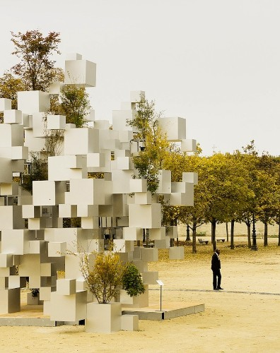 Amazing Pixelated Structure Composed of Perfectly Arranged Cubes