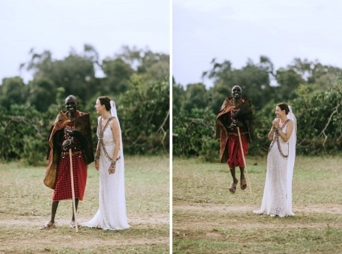 Maasai Tribe and Roaming Wildlife Attend a Gorgeous Wedding in Kenya