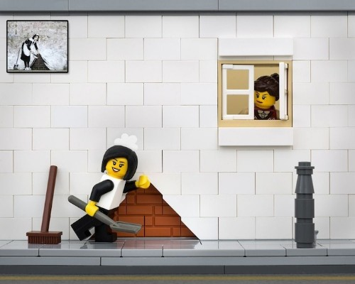 Banksy's Street Art Reimagined in LEGO