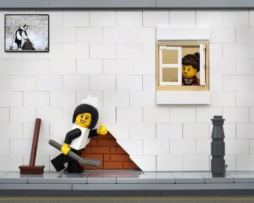 Banksy's Street Art Reimagined in LEGO