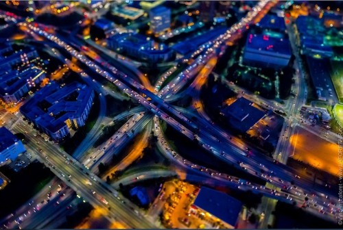 Brilliant Nighttime Photos of Los Angeles Shot from a Helicopter
