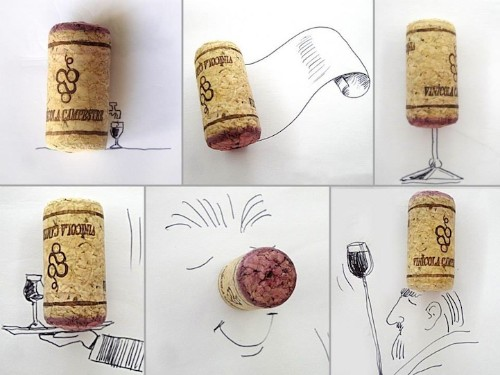Line Drawings Transform Everyday Objects Into Quirky Scenes