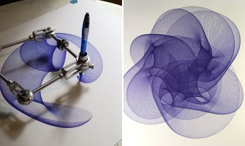 Hypnotic Illusion of a Drawing Growing Faster Than the Machine Producing It
