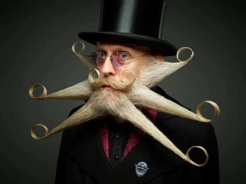 World Beard and Moustache Championships Exhibit Quirky Beard Styles