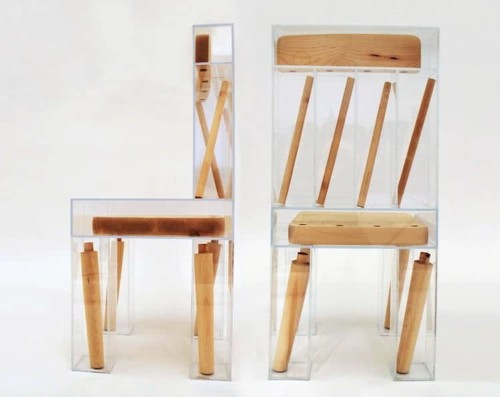 "Playful ""Exploded Chair"" Illusion Looks Like a Seat That's Falling Apart Right Under You"