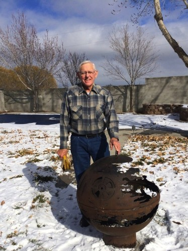 Spectacular Death Star Fire Pit Welded by 84-Year-Old Grandfather