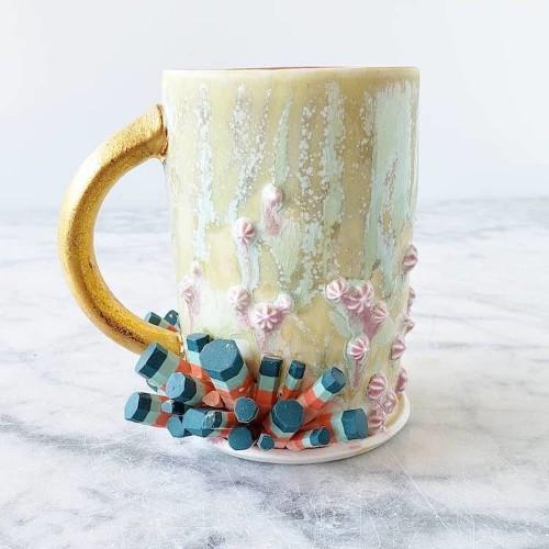 Ceramic Artist Crafts Dazzling Mugs Celebrating 90s Kids and Plant Moms