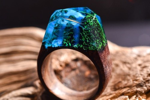 Handmade Resin Rings Capture the Cascading Beauty of Waterfalls
