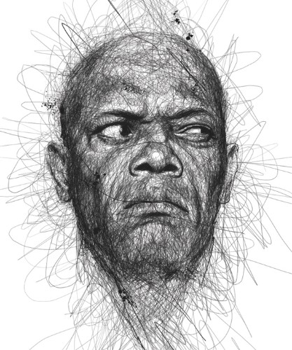 Lively Scribbles Produce Energetic Portraits of Famous Faces