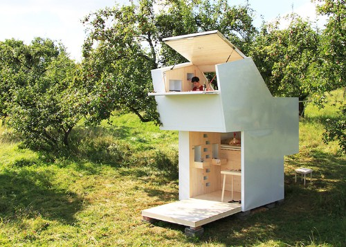Mobile Wooden Shelter Can Be Placed Anywhere Within Nature