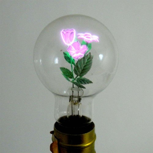 Beautiful Vintage Light Bulbs Feature Luminous Floral Filaments