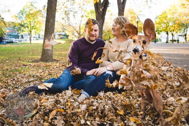 Adorable Dog Hilariously Photobombs Engagement Photo Shoot
